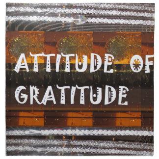 ATTITUDE of Gratitude  Text Wisdom Words Napkin