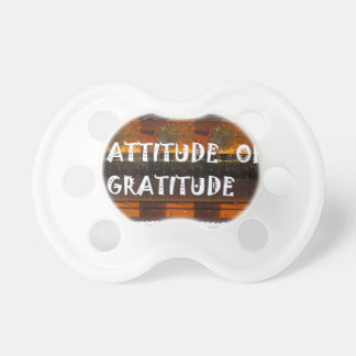 ATTITUDE of Gratitude  Text Wisdom Words Pacifier