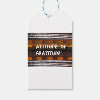 ATTITUDE of Gratitude  Text Wisdom Words Pack Of Gift Tags