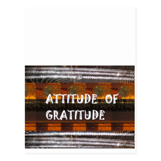 ATTITUDE of Gratitude  Text Wisdom Words Postcard