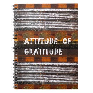ATTITUDE of Gratitude  Text Wisdom Words Spiral Notebook