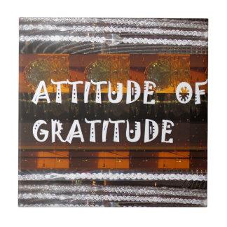ATTITUDE of Gratitude  Text Wisdom Words Tile