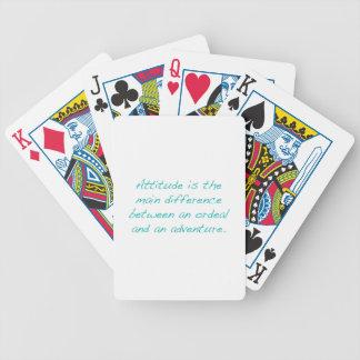 Attitude -- ordeal or  adventure (green) poker deck