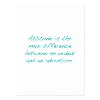 Attitude -- ordeal or  adventure (green) postcard