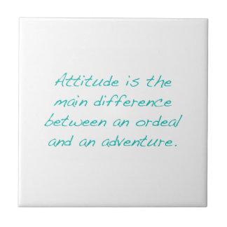 Attitude -- ordeal or  adventure (green) tile