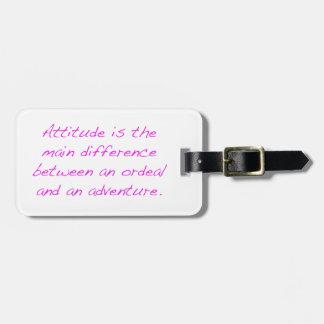 Attitude -  ordeal or adventure luggage tag