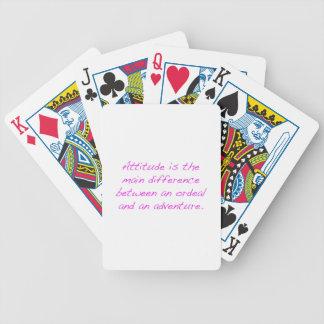 Attitude -  ordeal or adventure poker deck