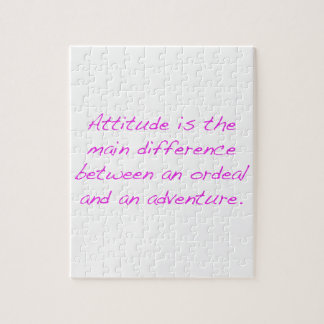 Attitude -  ordeal or adventure puzzles