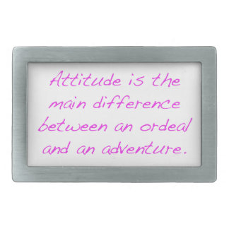 Attitude -  ordeal or adventure rectangular belt buckles