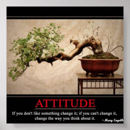 Attitude Poster Zazzle Ca
