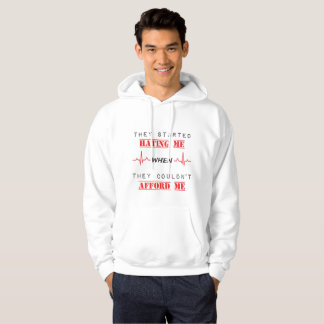 Attitude Quote  On Men's Basic Hooded Sweatshirt