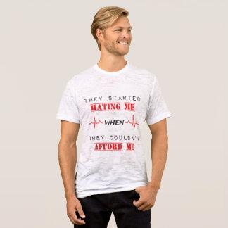 Attitude Quote On  Men's Canvas Burnout T-Shirt