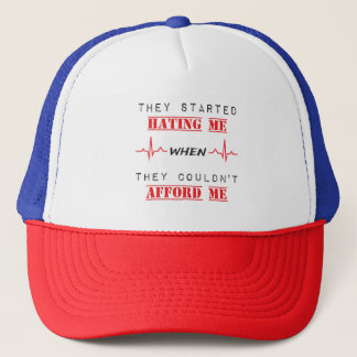 Attitude Quote  On Tucker Hat