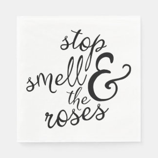 Attitude Smell The Roses Motivational Life Quote Paper Napkins