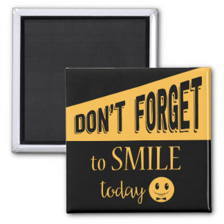 Attitude Smile Face Motivational Black And Gold Magnet