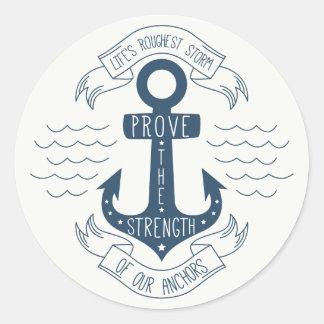 Attitude, Success Goals Motivational Quote Anchor Classic Round Sticker