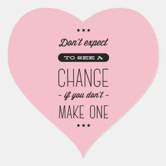Attitude, Success, Goals, Motivational Quote Pink Heart Sticker