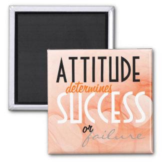 Attitude...Success Orange Heart Background Magnet