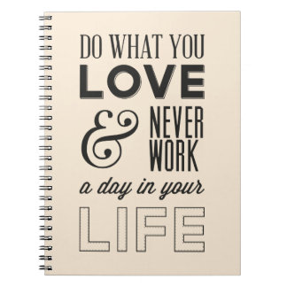 Attitude, Successs, Work, Motivational Life Quote Spiral Notebook