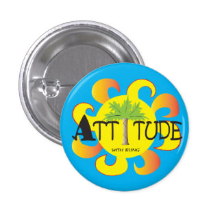 Attitude With Bling 1 Inch Round Button