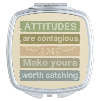 ATTITUDES custom monogram pocket mirror Mirror For Makeup