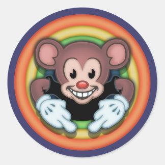 Attitudy Mouse Classic Round Sticker