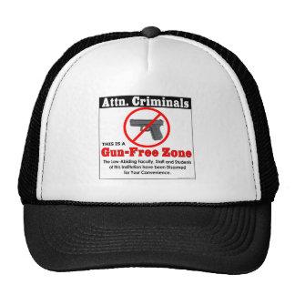 Attn Criminals: Gun-Free Zone Trucker Hat