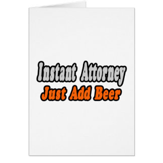 Attorney...Add Beer Card