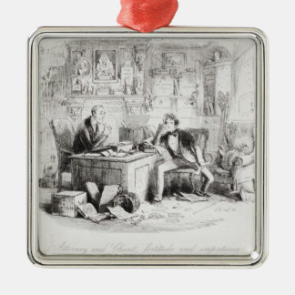 Attorney and Client, fortitude and impatience Metal Ornament