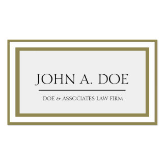 Attorney Antique Gold Border Galore Business Card