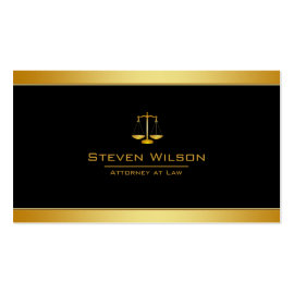 Attorney At Law Black and Gold Legal Scale