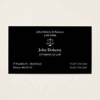 Attorney at Law | Classic Lawyer Business Card