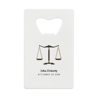 Attorney at Law | Classic Scales of Justice Wallet Bottle Opener