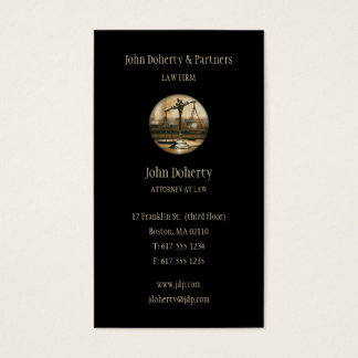 Attorney at Law - Elegant Black Business Card
