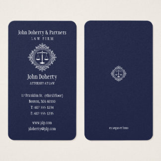 Attorney at Law | Elegant Blue Business Card