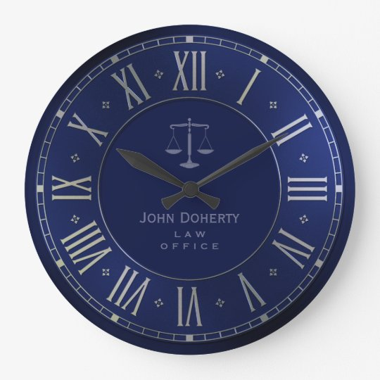 ATTORNEY AT LAW   Elegant Blue Wall Clock