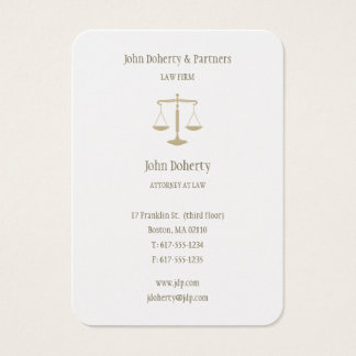 Attorney at Law | Elegant Gold Business Card