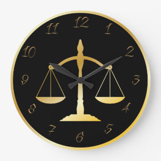 Attorney at law large clock
