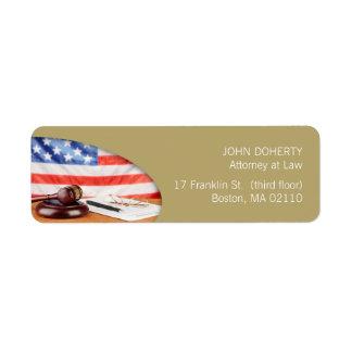 Attorney at Law | Lawyer Label Return Address Label