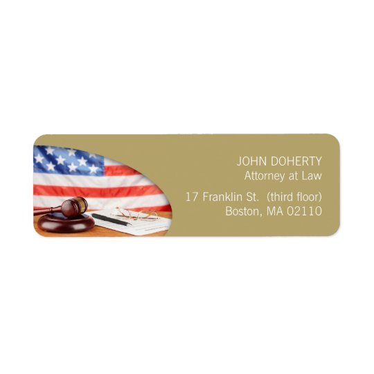 Attorney at Law | Lawyer Label Return Address Label