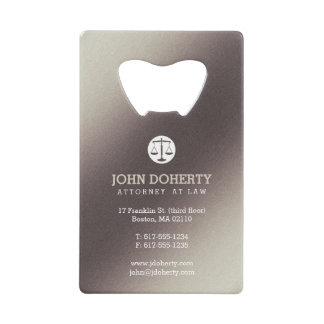 Attorney at Law | Lawyer's contact info Wallet Bottle Opener