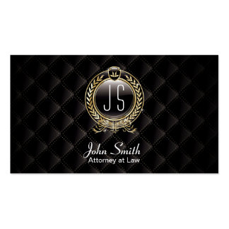 Attorney at Law Luxury Dark VIP Lawyer Business Card