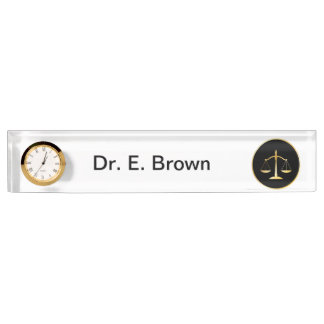 Attorney at law nameplate