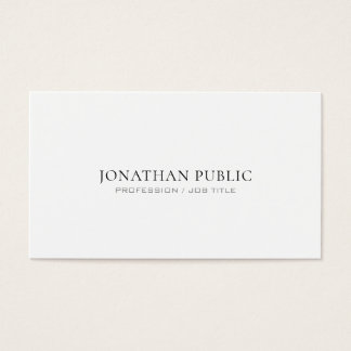 Attorney At Law Office Modern Stylish Simple Plain Business Card