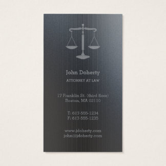 Attorney at Law | Perfect Silver Scales of Justice Business Card