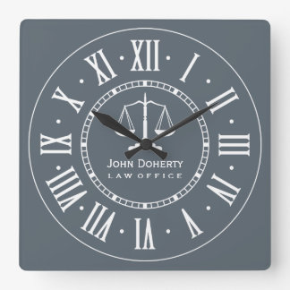 ATTORNEY AT LAW   Personalizable Square Wall Clock