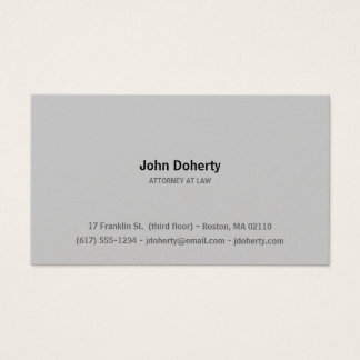 Attorney at Law | Plain Business Card