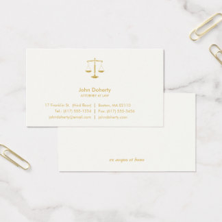ATTORNEY AT LAW | Professional Elegant Business Card