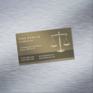 Attorney at Law | Professional Lawyer Magnetic Business Card