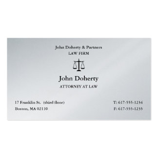 Attorney at Law | Scales of Justice Business Card
